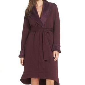 UGG DUFFIELD II Plush Bath Robe NEW! BURGUNDY